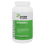 LuckyVitamin Vitamin C With Acerola 500 mg. - 90 Chewable ...