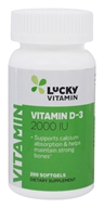 LuckyVitamin Vitamin D-3 2000 IU - 200 Softgels