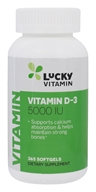 LuckyVitamin Vitamin D-3 5000 IU - 365 Softgels