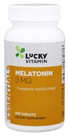 LuckyVitamin Melatonin 3 mg. - 200 Tablets