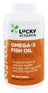 LuckyVitamin Omega-3 Fish Oil 1000 mg. - 500 Softgels