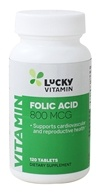 LuckyVitamin Folic Acid 800 mcg. - 120 Tablets