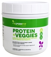 LuckyFit - Protein + Veggies Plant Protein Blend with Green ...